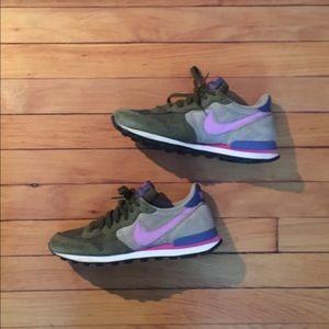 Nike Shoes - Nike Internationalist Olive Pink and Purple